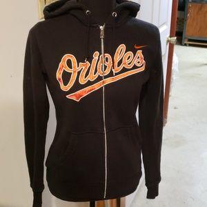 NIKE Orioles hoodie full zip sweatshirt